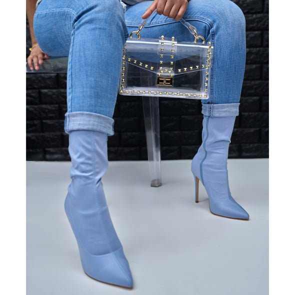 light blue bootie - maybel