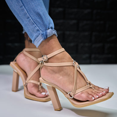 nude block heel sandal - wave length