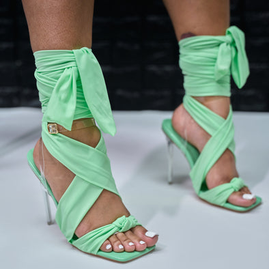 sage wrap up sandal - christal