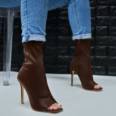 brown square tip bootie- victoria
