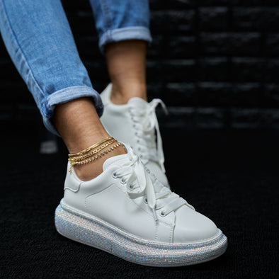 white bling sneaker - kingdom