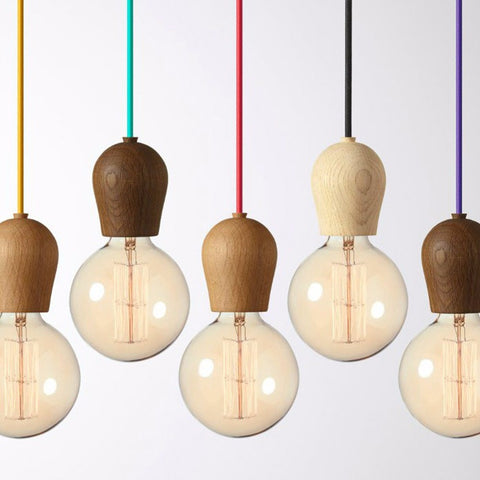 ModdSpace - Modern Colorful Wood Pendant Lights Vintage Free Shipping