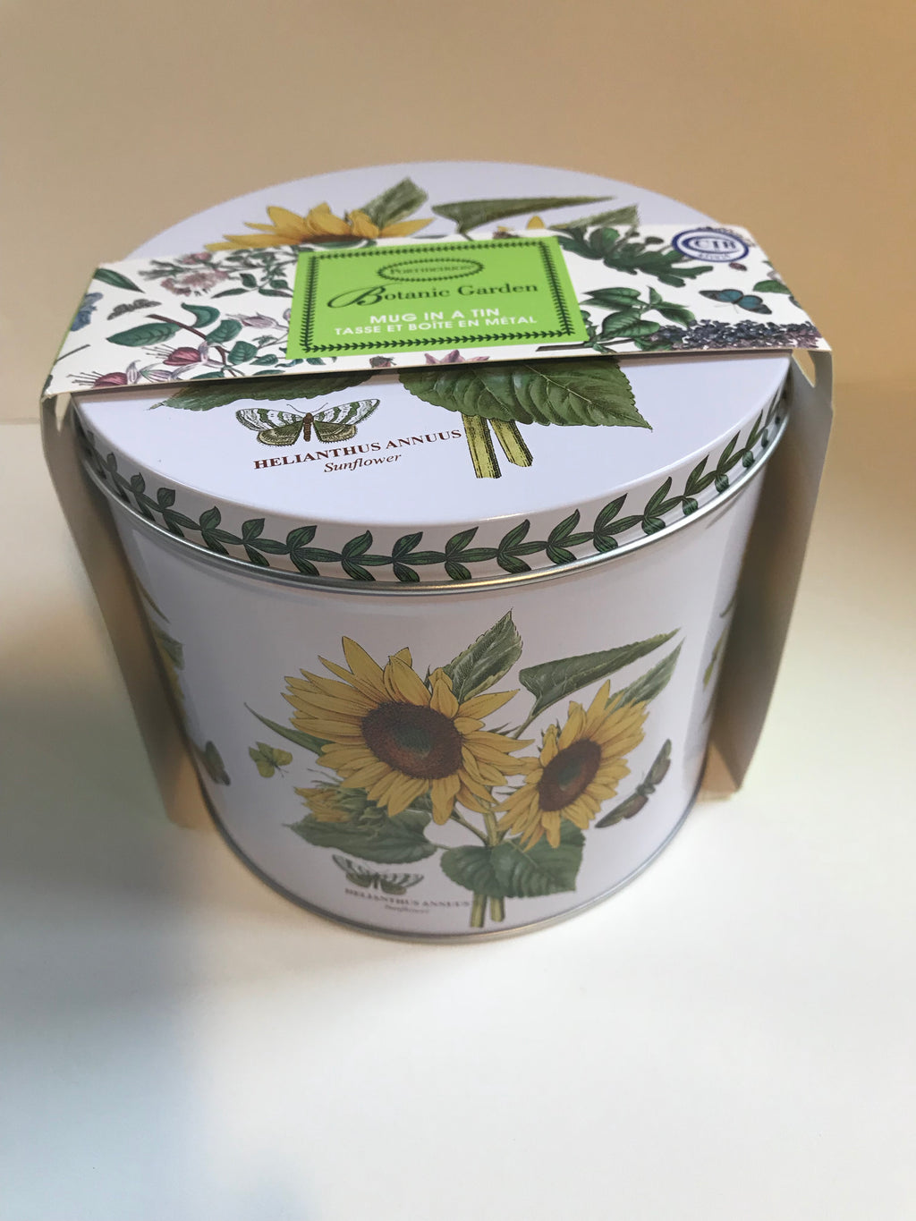 Portmeirion Botanic Garden Mug in a Tin( Sunflower)