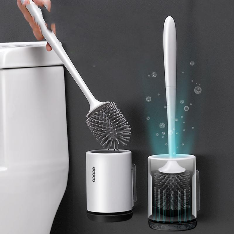 Wall Mount Toilet Brush Set