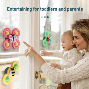 SpinToys™ Cute Cartoon Suction Cup Spinner Toy