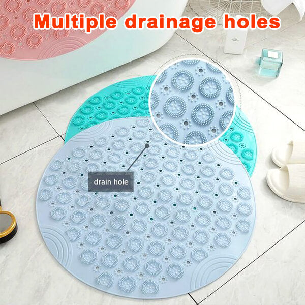 Non-Slip Bath Mat with Invigorating Massage Zones