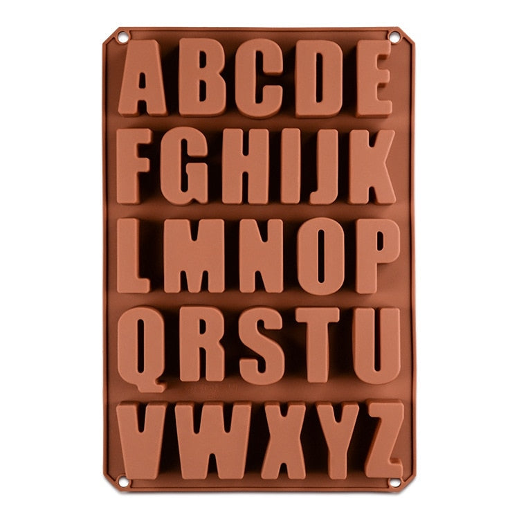 Chocolate Letters Mold