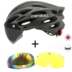 Ultralight LED Bicycle Helmet with Visor