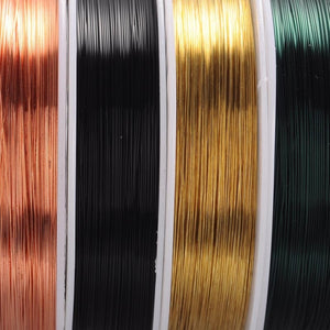 10 Colors Round Copper Wires Soft For Jewelry Making DIY Crafting
