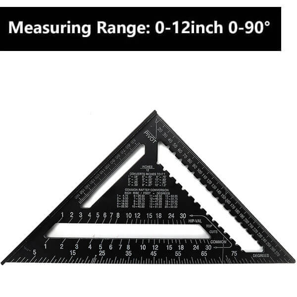 12 inch Metric Aluminum Alloy Triangle Ruler
