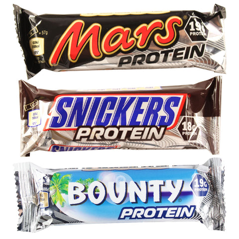 Mars, Snickers, Milky Way & Bounty Protein Bar