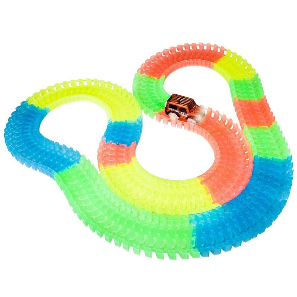 Glowing Racing Track Set