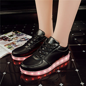 USB Charger Led Light Shoes Unisex Sports for children