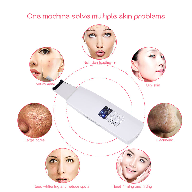 Ultrasonic Skin Scrubber Face Cleanser Blackhead Acne Removal