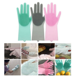 Silicone Cleaning Gloves Dusting Dish Washing