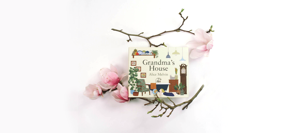 Cover of Grandma's house a beautiful children's book reviewed by faire child.