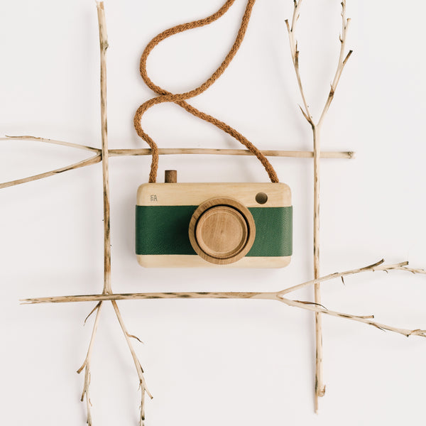 wooden camera toy for kids