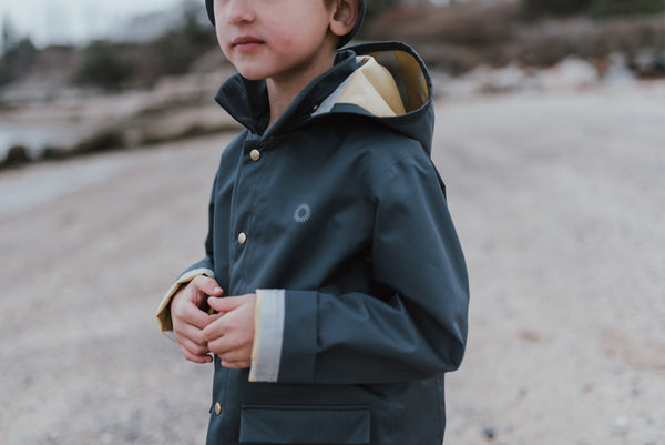 Kids clothing blog review of favourite Rain Gear for Kids made my fairchild.
