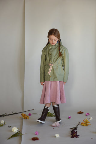 Faire Child kids raincoat made from recycled polyester in Balsam