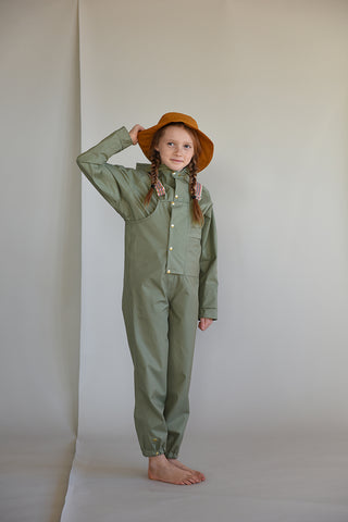 Faire Child children's coveralls made from recycled polyester in Balsam