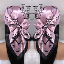 Load image into Gallery viewer, Limited Edition Barbie Rose Gold Satin Scarf - The Barb Life
