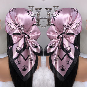 Limited Edition Barbie Rose Gold Satin Scarf - The Barb Life