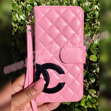 Load image into Gallery viewer, Tuffed Pink Wristlet Wallet Phone Case