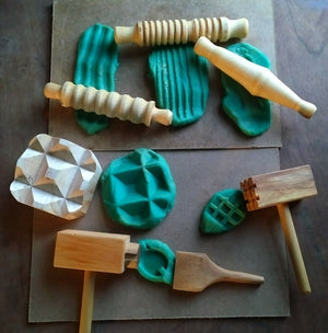 Dough and clay play tool set