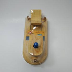 Wooden Paddle Toy Boat