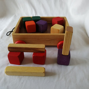 Pull-Along Wagon with Blocks
