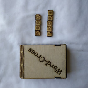 Word-Cross game made from plywood