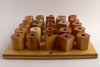 Peg Board with 25 Stackable Wooden Block