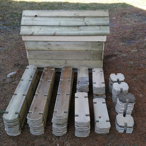 100 Piece Timber Boards Set with Case