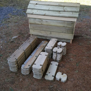 60 Piece Timber Boards Mini Set with Case