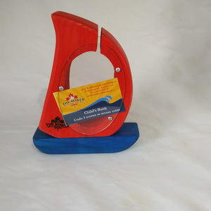 Sailboat coin bank