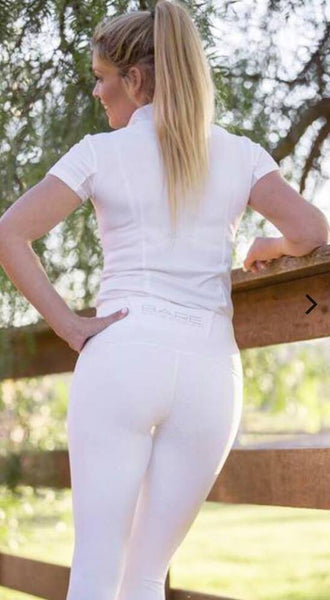BARE Equestrian 'SNOW WHITE' Performance Tights