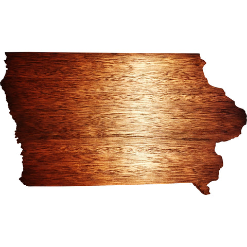 Iowa in Mahogany