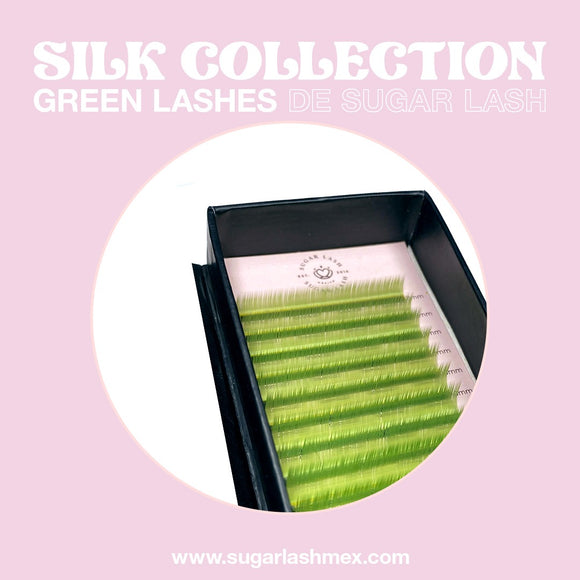 Sugar Lash Silk color collection mix 'Verde'