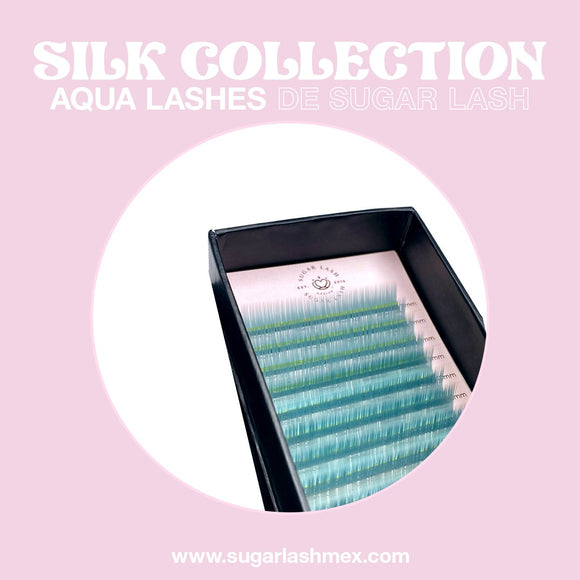 Sugar Lash Silk color collection mix 'Azul aqua'