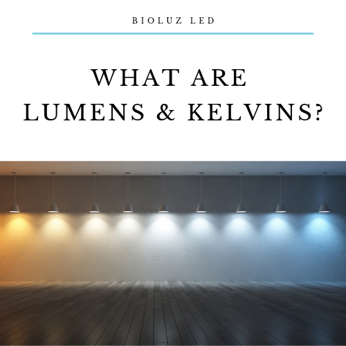 What are Lumens and Kelvins?