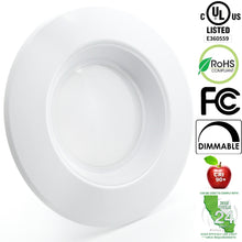 "5"" / 6"" LED Recessed Light Fixture 90 CRI Dimmable UL-Listed CEC JA8 Title 24"
