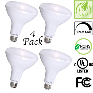 Bioluz LED BR40 LED Bulbs, Up to 120 Watt Equivalent, Indoor / Outdoor Dimmable LED Lamp, UL Listed