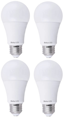 Bioluz LED 100W Dimmable LED Light Bulbs 1600 Lumens (use only 15W) Choose 3000K or 4000K 100W A19