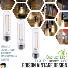Bioluz LED T10 Dimmable LED Filament Bulb
