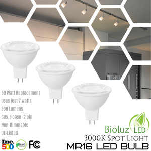 MR16 LED Light Bulb, Non-Dimmable