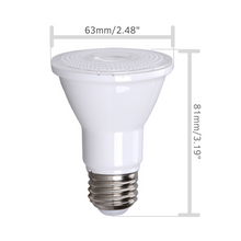 PAR20 LED Bulb 75W Replacement Indoor / Outdoor Dimmable Spot Light Bulb by Bioluz LED, 3000K Soft White, E26, 40 Degree Beam Angle, UL Listed