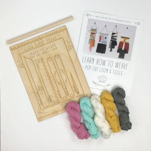 Black Sheep Goods - DIY Tapestry Weaving Kit - Unicorn