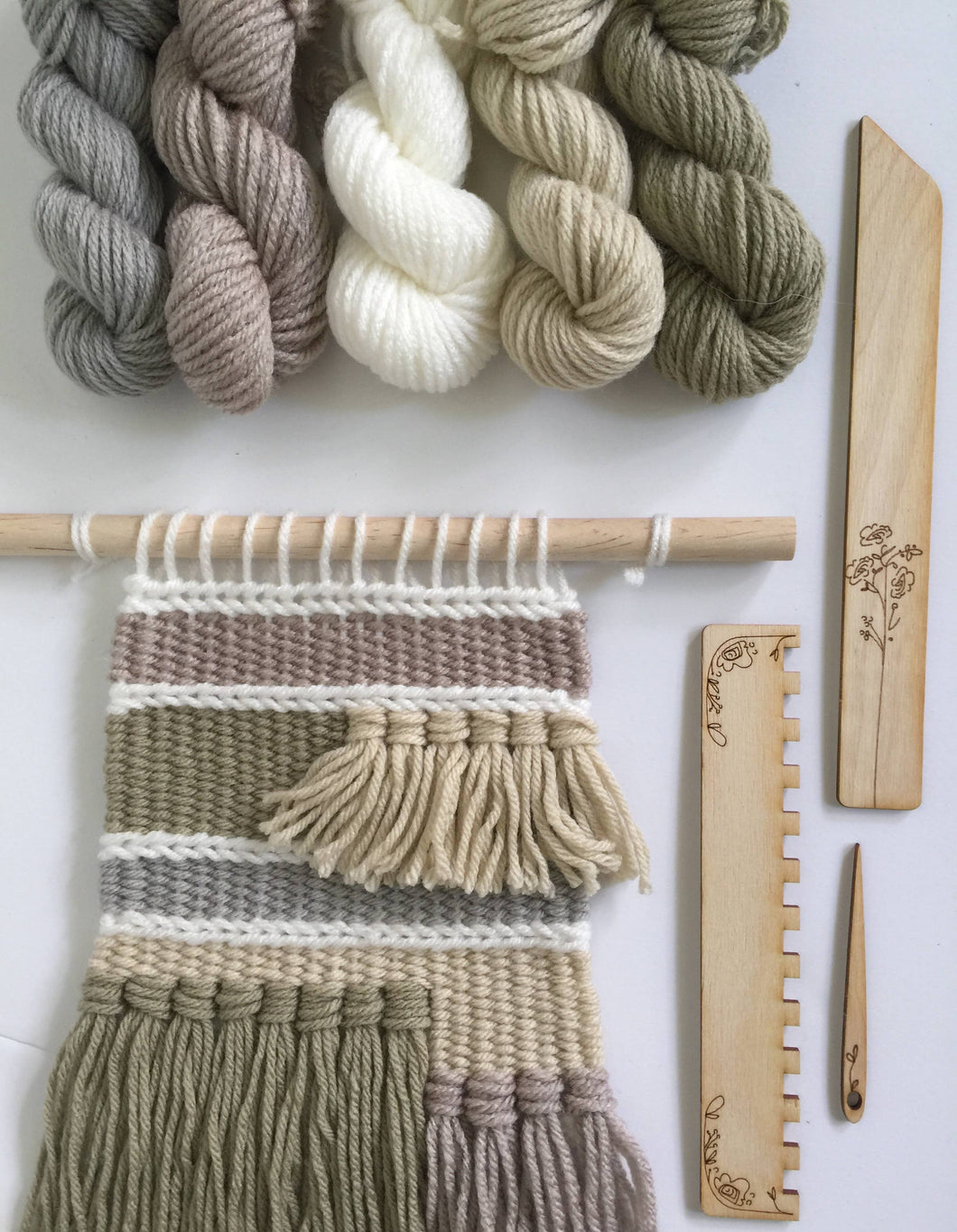 Black Sheep Goods - DIY Tapestry Weaving Kit - Natural