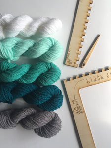 Black Sheep Goods - DIY Tapestry Weaving Kit - Ocean