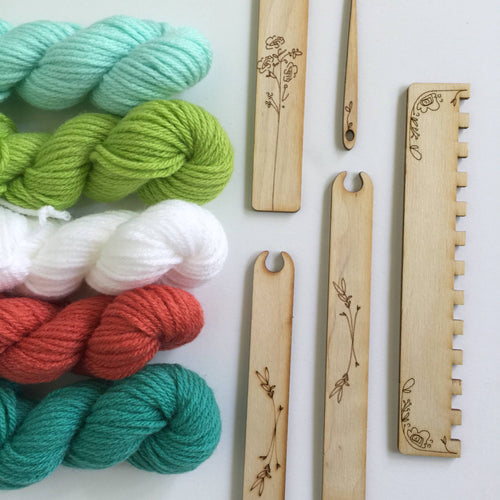 Black Sheep Goods - DIY Tapestry Weaving Kit - Tropical